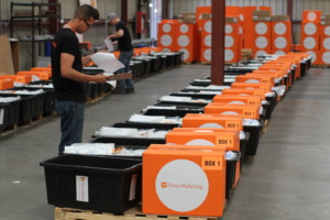 Shipments staged at Dircet Relief