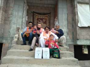 CHCS team with a Refugee Family