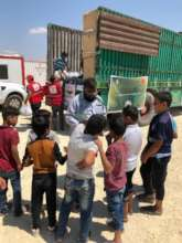 Distribution of gifts among the children in syria