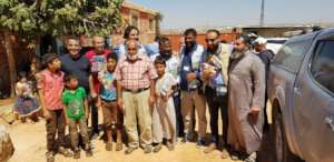 with the Syrian Refugees in syria