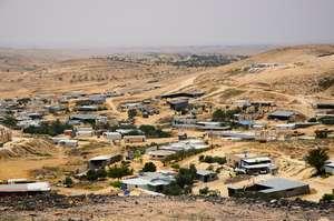 An aerial view of Umm al-Hiran