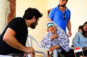 Umm Ibrahim being interviewed by Majd from Adalah