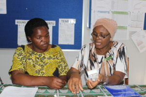 Asteria (right) & Family Planning coordinator Bola