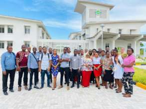 CCBRT staff in front of the new facility