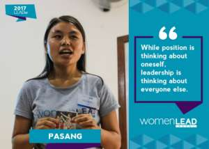 Pasang shares her view of leadership