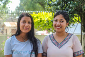 Mentor, Subina (right) with her mentee, Manisha