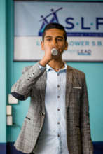 SLP Student Raj from Little Flower School