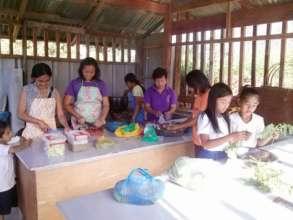"""All-In cooking  """"mass feeding""""  at Kasambuhan  ES"""
