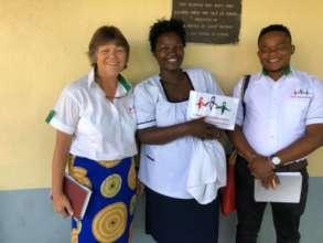 The Kamili team visiting an outreach clinic