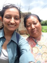 With the lovely Rudralaxmi (Bhaktapur)