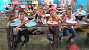 Girls enjoying lunch together