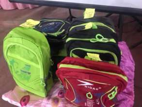 Backpacks are also given to contestants.