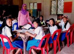 Girls in class