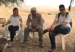 Meeting with a  resident of the Jordan Valley