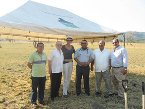 Our Nicaraguan team at the April ground-breaking.