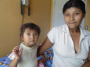 Young mother at Clinica Verde.