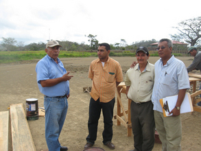 CV Superintendent Miguel Zapata (far left) and team members.