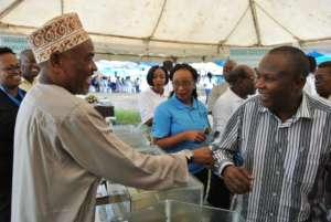 Mr. Omar Abdalla Juma (left), with Prof. Ntiba.