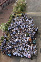 250 girls get excited for an event in Goa