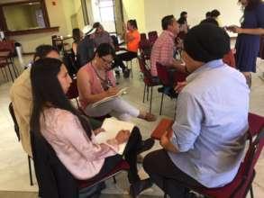 Participants hard at work during the seminar