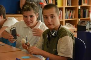 Marija and Zorica crafting with KEC friends