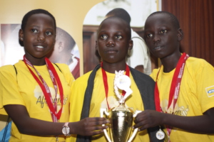 Ugandan team at the African Spelling Bee, Dec 2017