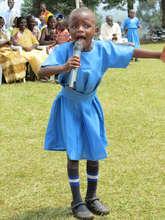 Girl Singing at Kasiisi Primary School