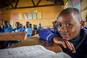 Girl in Primary School Classroom