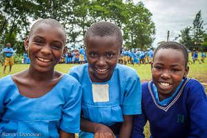 Happy Girls at School