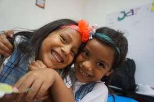 Kindergarten students Sara and Camila