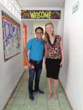 Global Giving visiting our school