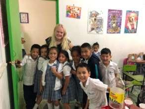 Goodbye to teacher Jasmin from Germany