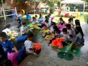 Thanksgiving day with partner school- Kindergarten