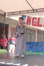 Juan Pablo from third grade wearing a Kimono
