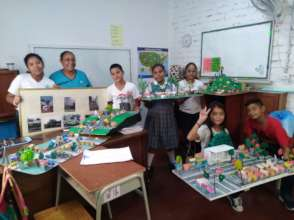 Fifth graders presenting their final project