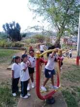 PE class at the community park
