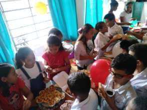 International food fair in English Class