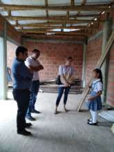 Maria from fifth grade giving the school tour