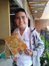 Juan Pablo designed his own notebook