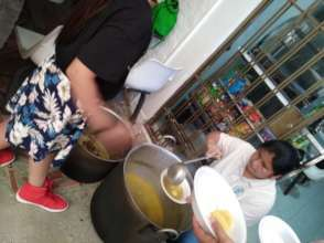 Community cooking pot during National Strike