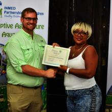 Felicia D. earns INMED Aquaponics certification