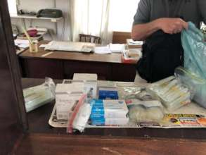 Packing meds for animals in Cyclone Idai hit areas