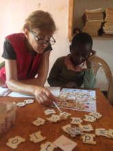 Teresa and a Grade 1 pupil