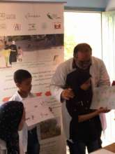 Drawing competition in schools on World Rabies Day