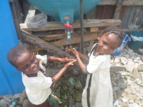 Water with sanitation is needed by the children