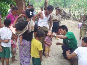 CHWs serving villagers in Rakhine State