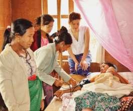 Overseeing training: Traditional Birth Attendants