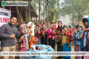 Out in the community: Distributing multi-vitamins