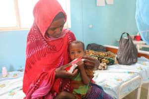 A mother and child affected by drought in Ethiopia