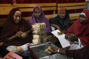 A woman's self-help group in Somalia.